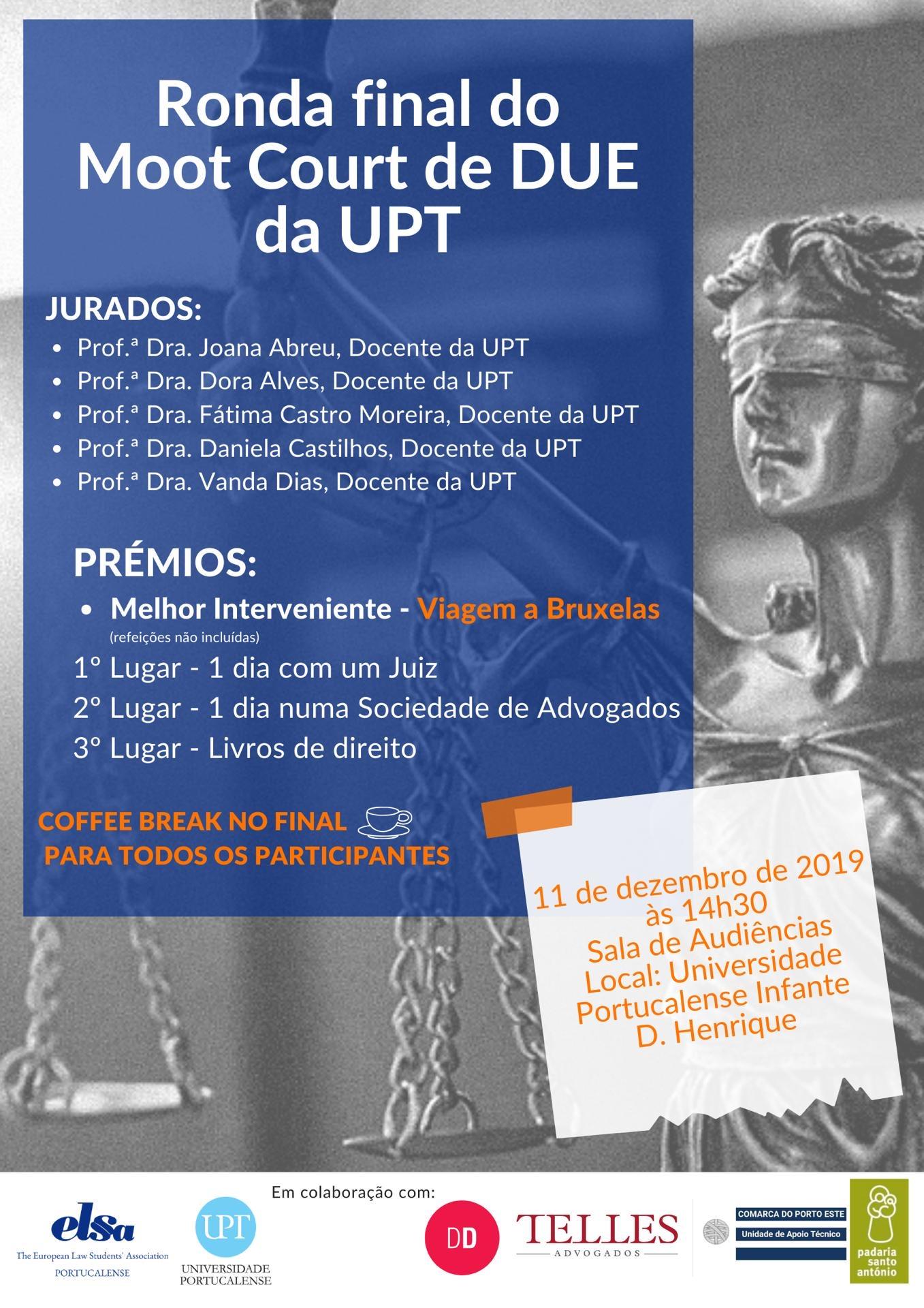 Ronda final de MOOT Court de Direito da União Europeia da UPT