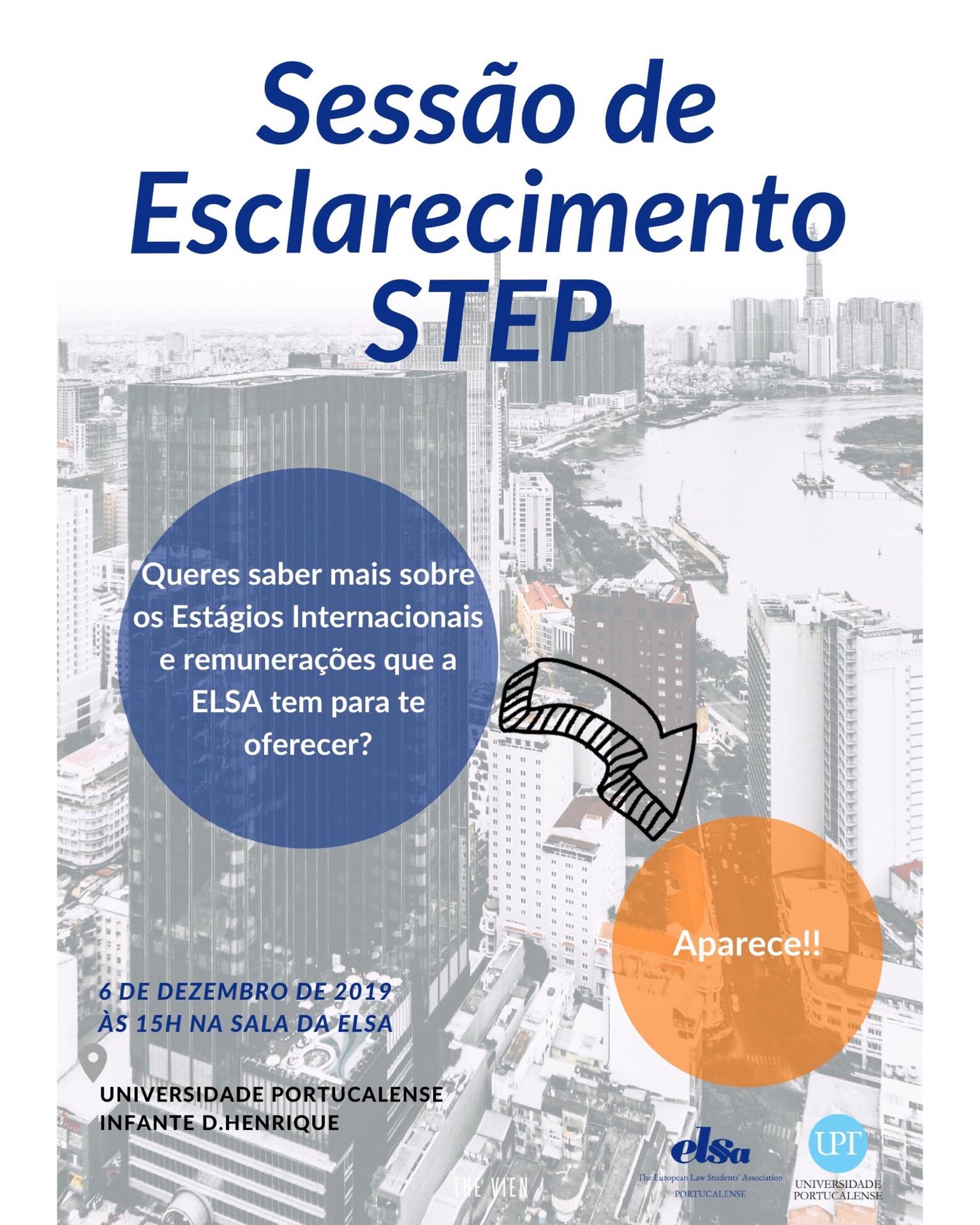 Nova Sessão de Esclarecimentos STEP