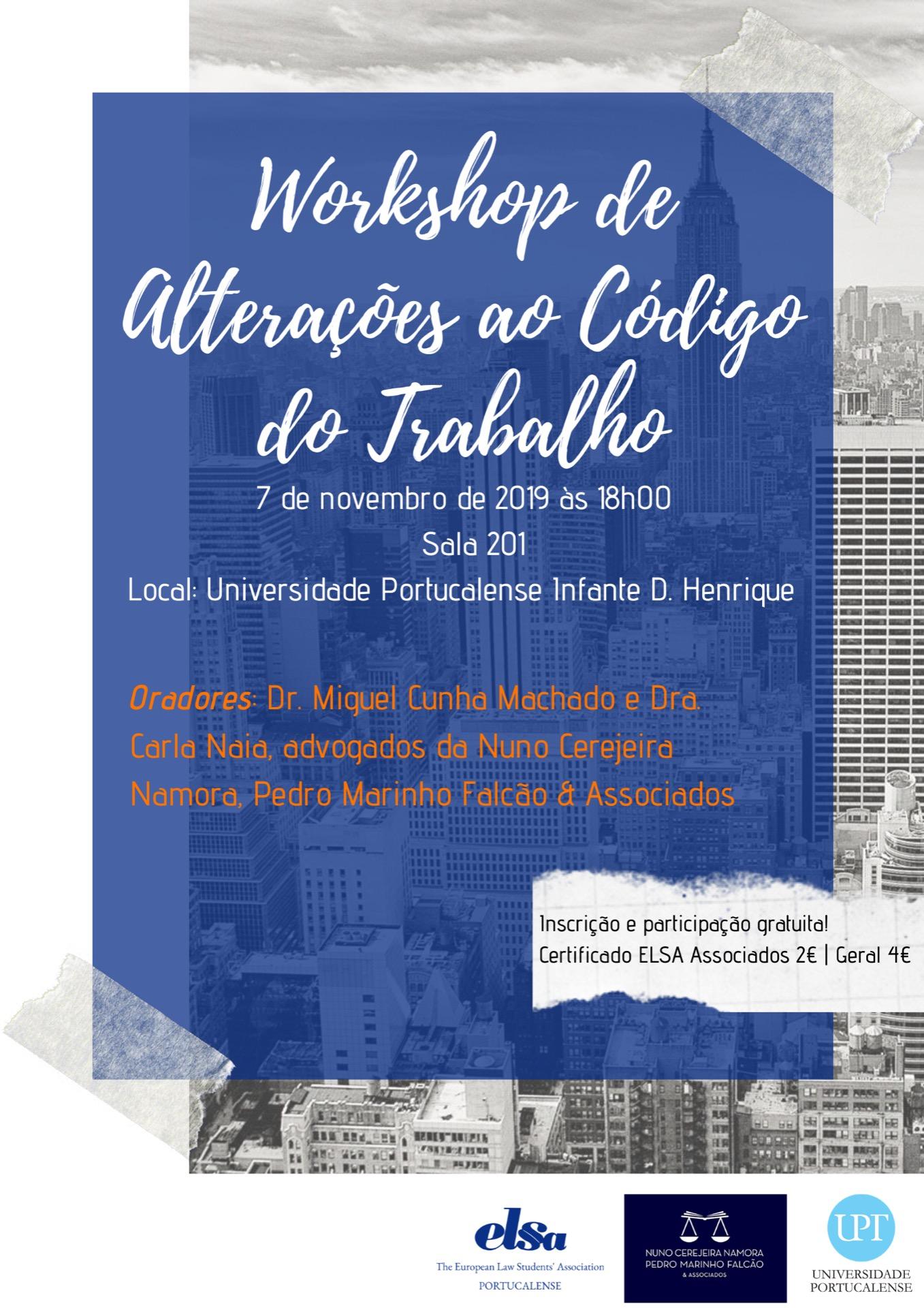 Workshop de Alterações ao Código de Trabalho