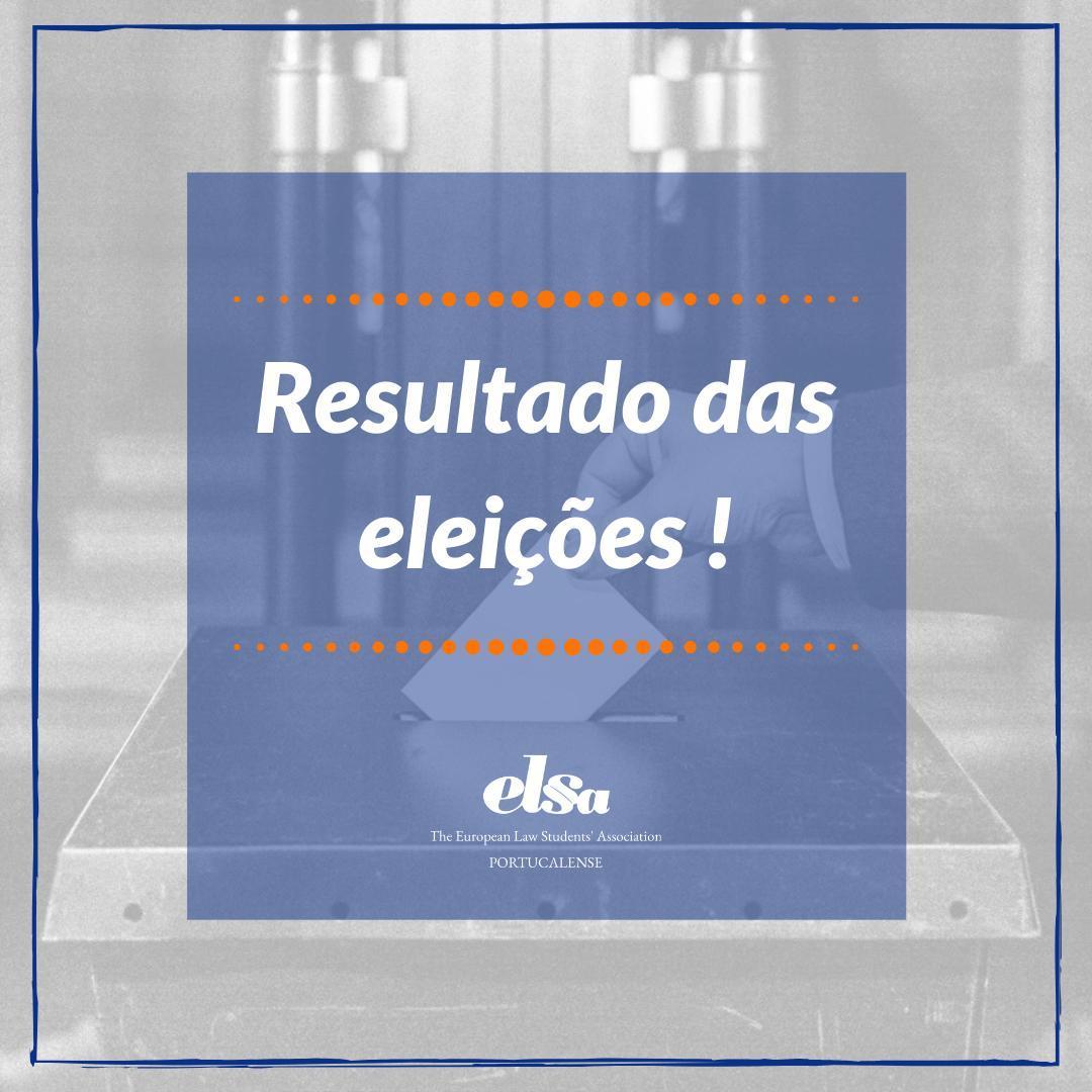 Resultado das Eleições para o novo mandato de 2020/2021