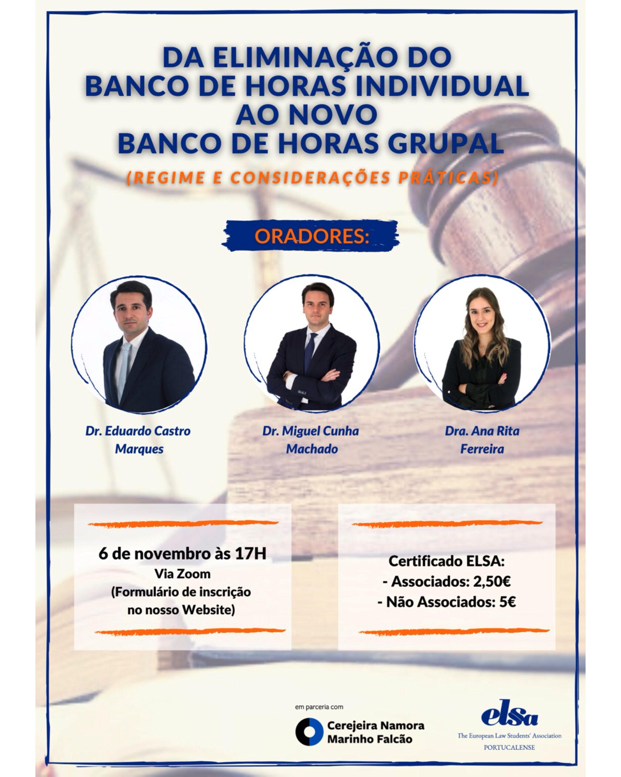 Da Eliminação do Banco de Horas Individual ao Novo Banco de Horas Grupal