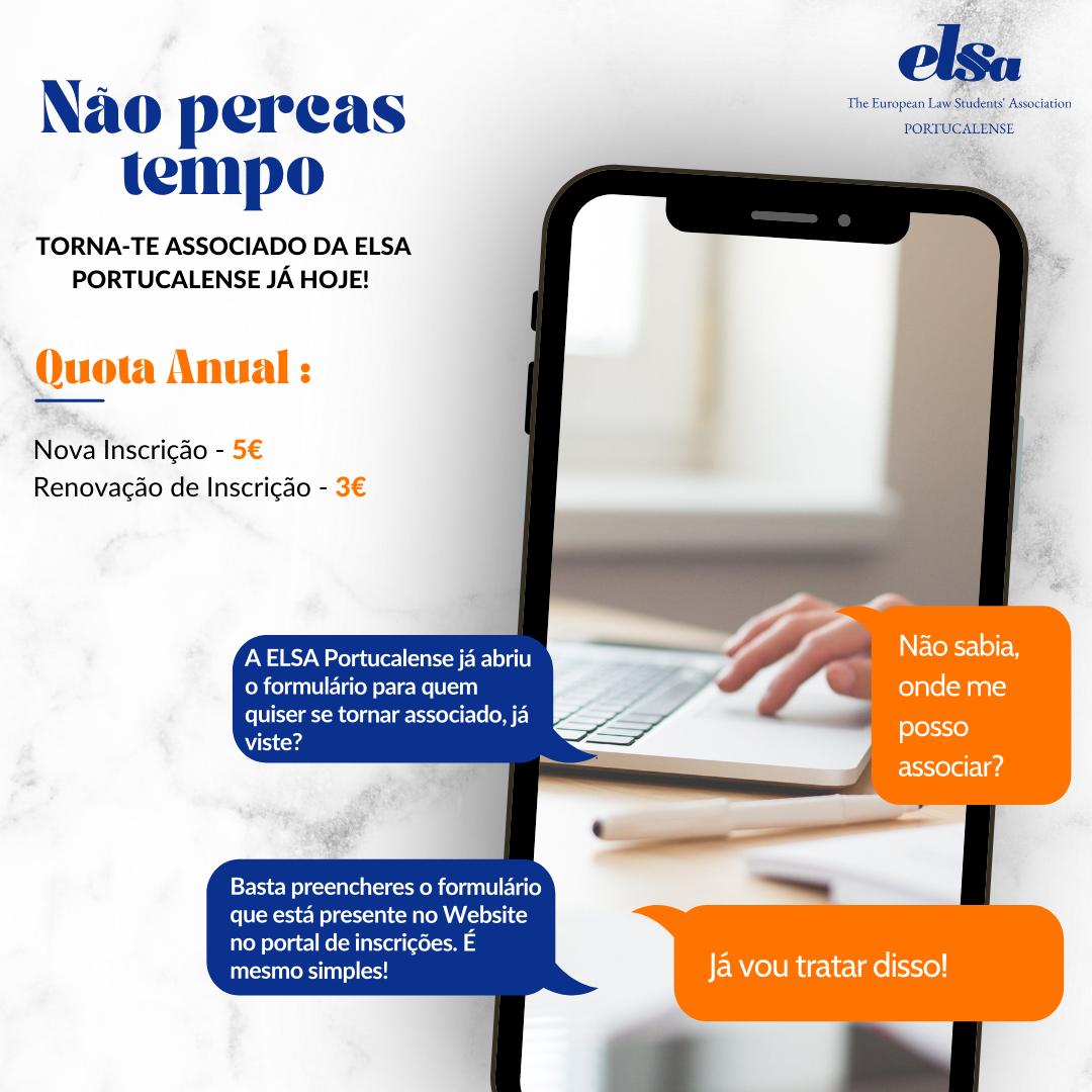 Torna-te associado da ELSA Portucalense